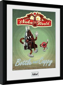 Zarámovaný plakát Fallout - Bottle and Cappy