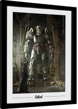 Oprawiony plakat Fallout - Power Armour
