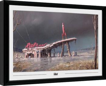 Zarámovaný plakát Fallout - Red Rocket