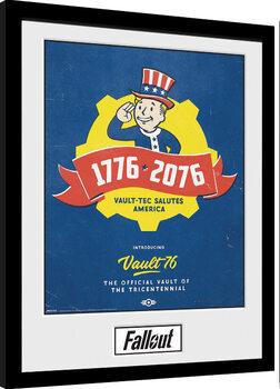 Oprawiony plakat Fallout - Tricentennial
