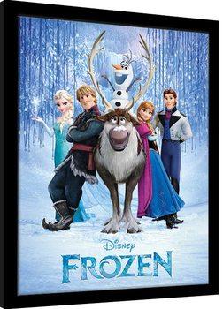 Oprawiony plakat Frozen - Group
