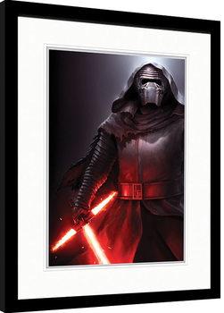 Oprawiony plakat Gwiezdne wojny, część VII : Przebudzenie Mocy - Kylo Ren Stance