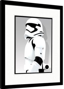 Oprawiony plakat Gwiezdne wojny, część VII : Przebudzenie Mocy - Stormtrooper Shadow