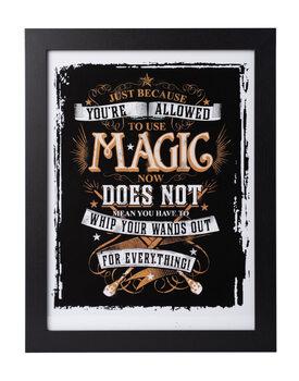 Zarámovaný plakát Harry Potter - Allowed Magic