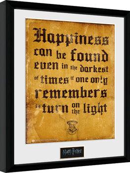 Zarámovaný plakát Harry Potter - Happiness Can Be