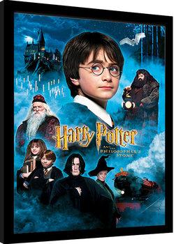 Zarámovaný plakát Harry Potter - Philosophers Stone