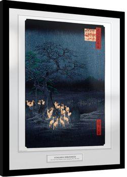 Oprawiony plakat Hiroshige - New Years Eve Foxfire