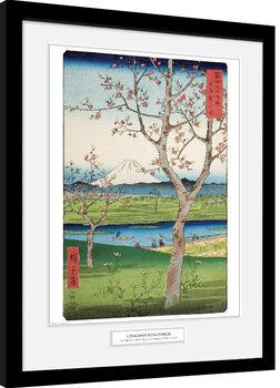 Oprawiony plakat Hiroshige - The Outskirts of Koshigaya