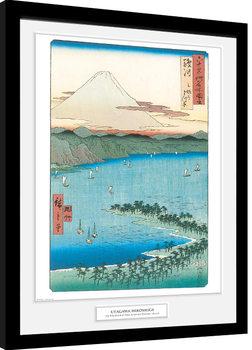 Oprawiony plakat Hiroshige - The Pine Beach At Miho