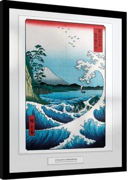 Oprawiony plakat Hiroshige - The Sea At Satta
