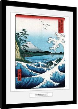 Zarámovaný plakát Hiroshige - The Sea At Satta