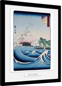 Oprawiony plakat Hiroshige - The Seven Ri Beach
