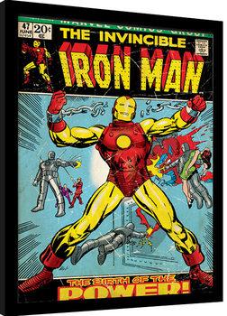 Oprawiony plakat Iron Man - Birth Of Power