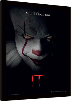 Zarámovaný plakát IT - Pennywise Face