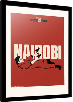 Zarámovaný plakát La Casa De Papel - Nairobi