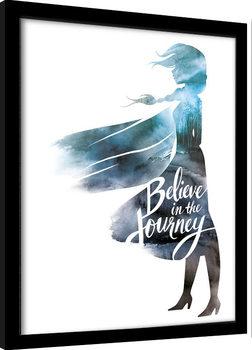 Zarámovaný plakát Ledové království 2 (Frozen) - Believe In The Journey