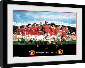 Zarámovaný plakát Manchester United - Legends