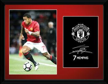 Zarámovaný plakát Manchester United - Mamphis 16/17