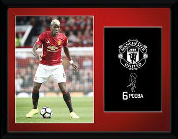Zarámovaný plakát Manchester United - Pogba 16/17