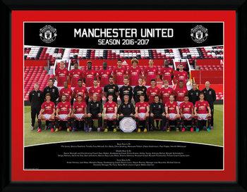 Zarámovaný plakát Manchester United - Team Photo 16/17