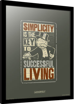 Oprawiony plakat Monopoly - Simplicity
