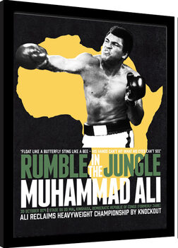 Oprawiony plakat Muhammad Ali - Rumble in the Jungle