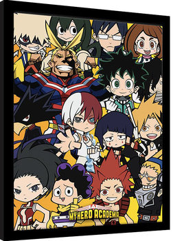 Zarámovaný plakát My Hero Academia - Chibi Characters