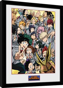 Zarámovaný plakát My Hero Academia - School Group