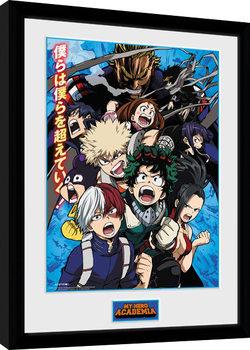 Oprawiony plakat My Hero Academia - Season 2