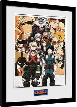 Oprawiony plakat My Hero Academia - Season 4 Key Art 1
