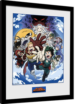 Oprawiony plakat My Hero Academia - Season 4 Key Art 2