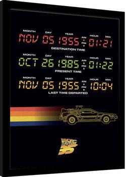 Zarámovaný plakát Návrat do budoucnosti - Time Circuits