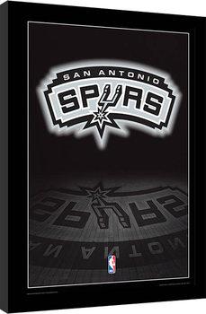 Oprawiony plakat NBA - San Antonio Spurs Logo
