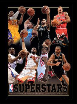 Oprawiony plakat NBA - Superstars