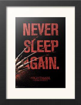 Zarámovaný plakát Noční můra v Elm Street - Never Sleep Again