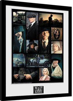 Zarámovaný plakát Peaky Blinders - Grid