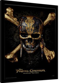 Oprawiony plakat Piraci z Karaibów - Skull