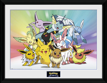 Zarámovaný plakát Pokemon - Eevee