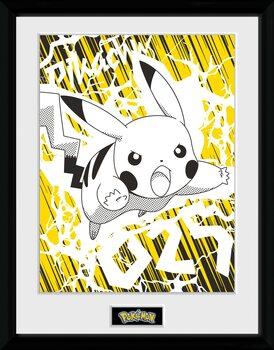 Zarámovaný plakát Pokemon - Pikachu Bolt 25
