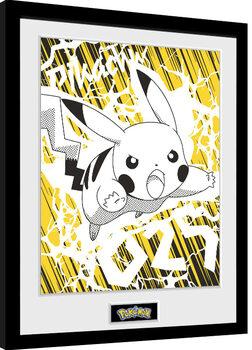 Oprawiony plakat Pokemon - Pikachu Bolt 25