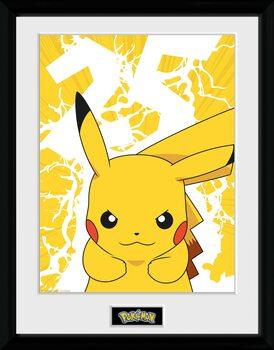 Zarámovaný plakát Pokemon - Pikachu Lightning 25
