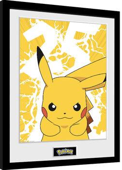 Oprawiony plakat Pokemon - Pikachu Lightning 25