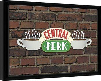 Zarámovaný plakát Přátelé - Central Perk Brick
