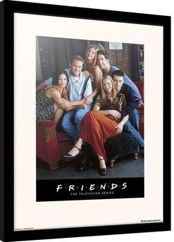 Zarámovaný plakát Přátelé - Characters