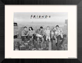 Oprawiony plakat Przyjaciele - Lunch On Skyscraper