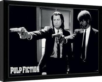 Zarámovaný plakát PULP FICTION - guns