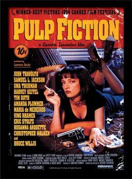 Oprawiony plakat Pulp Fiction - Uma On Bed