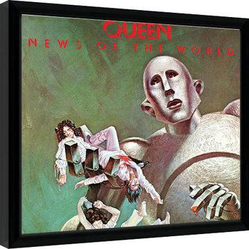 Zarámovaný plakát Queen - News Of The World
