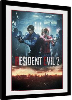 Zarámovaný plakát Resident Evil 2 - City Key Art