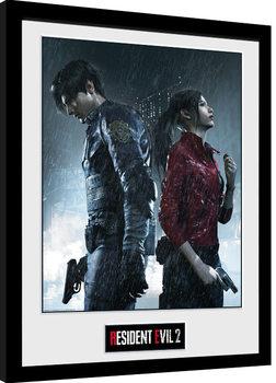 Zarámovaný plakát Resident Evil 2 - Rain Key Art
